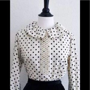 Cream Pearl Bead Fashion Tie Choker Necklace